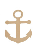 Anchor Shape Unfinished MDF Cut Out MANCH-12