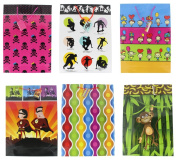 Gift Bags Party Celebration Pink Skulls Skating Heros Monkeys Glossy Greetings Bag - 6 Assorted