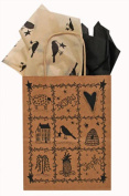 Folk Art Paper Gift Bag w/ Tissue Paper- 10 Pack