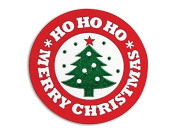 Christmas Seals And Labels - Merry Christmas Tree Seals 3.8cm Round - 250 Labels