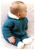 Superbulky Baby One Piece Suit or Jacket - Knitting Pure & Simple Knitting Pattern #1406 - Easy Level Knitting