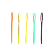 20 Pcs Mix Colour 7cm Plastic Large-Eye Needles Sewing Needles