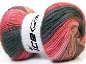 Lot of 4 x 100gr Skeins ICE YARNS Magic Light Pink Shades Brown Shades