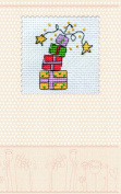 """Postcard cross stitch kit """"Gifts firework"""" for kids and beginners"""
