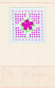 "Postcard cross stitch kit ""Pink tenderness"" for kids and beginners"