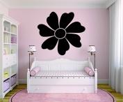 Design with Vinyl RAD 882 2 Flower Baby Girl Teen Bedroom Design Wall Decal, Black, 41cm x 60cm
