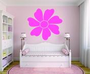 Design with Vinyl RAD 883 2 Flower Baby Girl Teen Bedroom Design Wall Decal, Pink, 41cm x 60cm