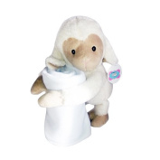 New Born Cuddly Supersoft Blanket Gift Set with Sheep Toy