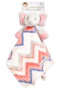 Blankets and Beyond Adorable NuNu Security Blanket, Chevron Elephant