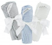 Swaddle Blankets Cotton Muslin Soft for Kids - Bundle of 3