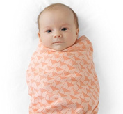 Finn + Emma - 2pc Muslin Swaddle Blanket Set - 100% Organic Cotton Baby Blanket for Girls - Triangles