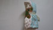 Blossoms & Buds Blue Quartrefoil Pattern Minky Dot Baby Blanket