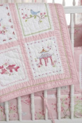 Whistle & Wink Pink Pagoda Crib Quilt