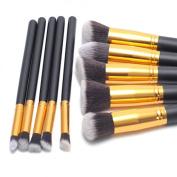 Gydoxy(TM)10 Pcs/set Professional Women Practical Cosmetics Brush Soft Cosmetic Makeup Brushes Toiletry Set