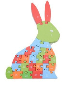 Extpro Educational Wooden ABC & 123 Animal Puzzles for Toddlers Number & Letter Puppy Jigsaw Puzzles