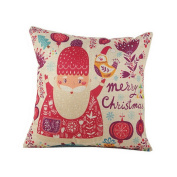 Home Decoration Christmas Santa Claus Owl Pillow Cushion Cover Kids Gift