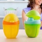 SKK Baby Cute Milk Powder Dispenser Non-Spill Travle Divider Powder Storage Container Green