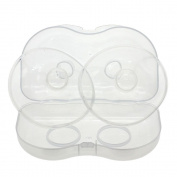 WEKA Contact Nipple Shield clear New Baby Soft Silicone For Breastfeeding 2pcs