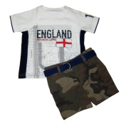 Ralph Lauren Polo Baby Boys England Tee & Camo Shorts Set