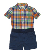 Ralph Lauren Polo Baby Boys Plaid Shirt & Cargo Shorts Set