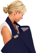 NEW! BebeChicCanada * High Quality 100% Cotton * Breastfeeding Covers * Boned Nursing Tops - Navy Blue with tiny White Spots