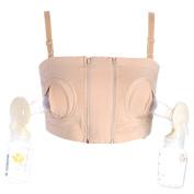 Fund Hidden Nursing Bra Middle Hole Maternity Breastfeeding Strapless Strap Underwired Feeding Baby Bra (M