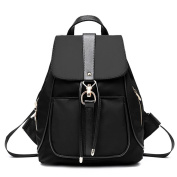 An'Dee Women's Fashionable Metal Clasp Sides Zipper Design Student Backpack Travel Bags