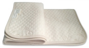 Waterproof Baby Change Pad - Best Portable Washable Nappy Changing Mat - 50cm x 70cm Natural/Beige - Jacquard Organic Cotton and Plush Soft Bamboo Top Layers