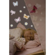 Home Decor Line Spring Butterflies Glow in the Dark Wall Stickers