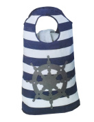 Ship Wheel Canvas Hamper Tote