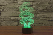 Double Helix DNA Hologram LED Night Light Lamp - Colour Changing