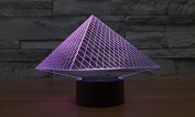 Triangle Pyramid Hologram LED Night Light Lamp - Colour Changing