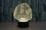 Six Sided Dice Hologram LED Night Light Lamp - Colour Changing