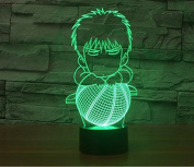 Basketball Cartoon Hologram LED Night Light Lamp - Colour Changing