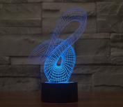 Curvy Hologram LED Night Light Lamp - Colour Changing