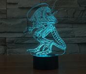 Alien Hologram LED Night Light Lamp - Colour Changing