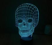 Skull Head Hologram LED Night Light Lamp - Colour Changing