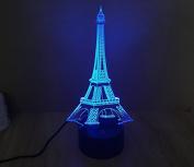 Eiffel Tower Hologram LED Night Light Lamp - Colour Changing
