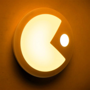 2016 New Human Body Induction Night Light By Pac-Man USB Charging More Light Source-The Yellow and White Two Options