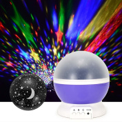 Oulii Star Projector Laser Lights 4 LED Bead 360 Degree Rotating