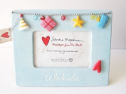Sandra Magsamen Department 56 Blue Musical Picture Frame - Celebrate