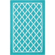 Delightful and Vibrant Kids Fret Pattern Rug Teal 0.6m1.8mx0.9m10