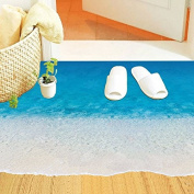 3D Sea Beach Floor Stickers DIY Removable Sandbeach Wall Decal Home Room Living Room Decor