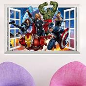 3D Avengers Marvel Captain America Hulk Wall Sticker Decal Removable Mural Decor