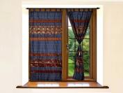 Lalhaveli Elephant Work Silk Designer Curtains For Living Room 210cm X 110cm
