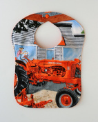 Allis Chalmers WD-45 Tractor Baby Bib, Reversible