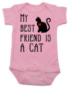 Vulgar Baby My Best Friend is a Cat Onesie