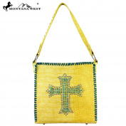 Montana West Spiritual Collection Handbag Purse Yellow
