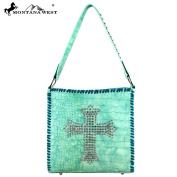 Spiritual Collection Handbag Purse Turquoise