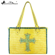 Spiritual Collection Croc Studded Handbag Yellow